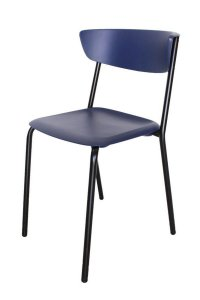 Cadeira em Polipropileno Linha Banqueta Escritório Smart Azul