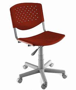 Cadeira Giratória Linha Polipropileno Atenas Vermelho