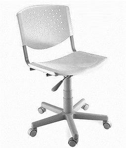 Cadeira Giratória Linha Polipropileno Atenas Branco