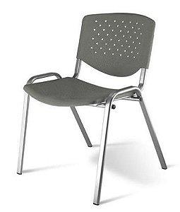 Cadeira Empilhável Linha Polipropileno Atenas Cinza