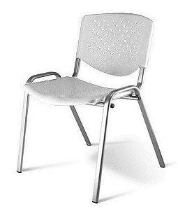 Cadeira Empilhável Linha Polipropileno Atenas Branco