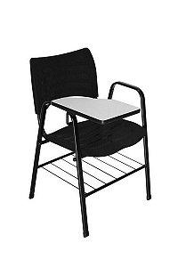 Cadeira Iso com Braço Linha Polipropileno Iso Universitária Preto