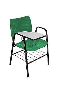 Cadeira Iso com Braço Linha Polipropileno Iso Universitária Verde