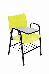 Cadeira Iso com Braço Linha Polipropileno Iso Universitária Amarelo