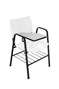 Cadeira Iso com Braço Linha Polipropileno Iso Universitária Branco