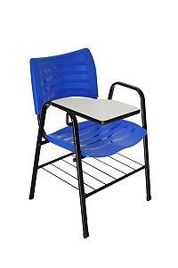 Cadeira Iso com Braço Linha Polipropileno Iso Universitária Azul