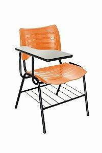 Cadeira Iso Linha Polipropileno Iso Universitária Laranja