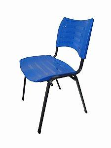 Cadeira Empilhável Iso Linha Polipropileno Iso Azul