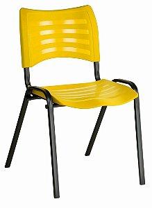 Cadeira Empilhável Iso Linha Polipropileno Iso Amarelo