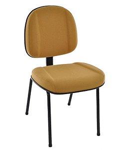 Cadeira Gerente com Base Fixa Pé Palito Linha Classic Amarelo