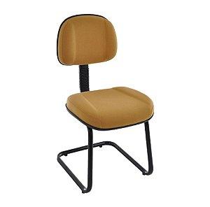 Cadeira Secretária com Base fixa em S   Linha Classic Amarelo