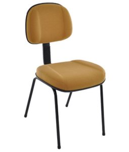 Cadeira Secretária com Base Pé Palito  Linha Classic Amarelo