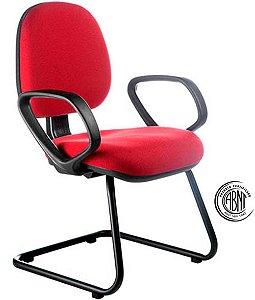 Cadeira Gerente com Certificação ABNT Linha Confort Vermelho