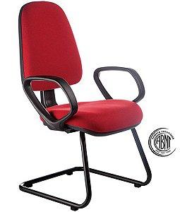 Cadeira Diretor com Certificação ABNT Linha Confort Vermelho