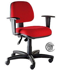 Cadeira Secretária com Certificação ABNT Linha Confort Vermelho