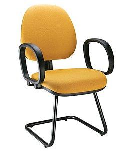 Cadeira Gerente com Base Fixa em S  Linha Confort Plus Cor Amarelo