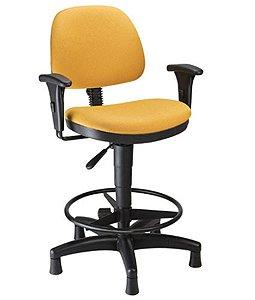 Cadeira Secretária Caixa com Aro Linha Confort Plus Amarelo