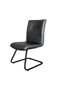 Cadeira Diretor Fixa em S  Linha Corinto Preto