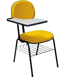 Cadeira Secretária Universitária  Linha Economy Amarelo