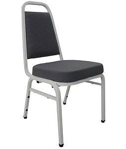Cadeira Empilhável para Auditórios Linha Hotel Plus Cinza