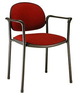 Cadeira fixa base fixa  Linha King Vermelho
