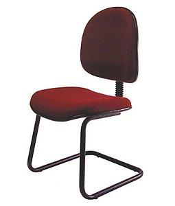 Cadeira Executiva Universitária  Base Fixa em S Linha Office Vermelho