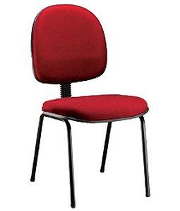 Cadeira Executiva Base Fixa  Linha Office Vermelho