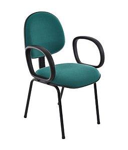 Cadeira Executiva Base Fixa com Braços Linha Office Vermelho