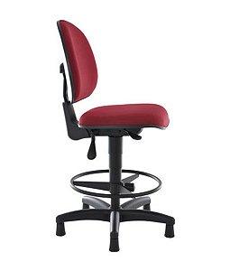 Cadeira Executiva Base Caixa com Back System Linha Office Vermelho