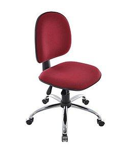 Cadeira Executiva Base Giratória Cromada Linha Office Vermelho