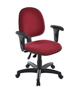 Cadeira Executiva Com Braços Linha Office Vermelho
