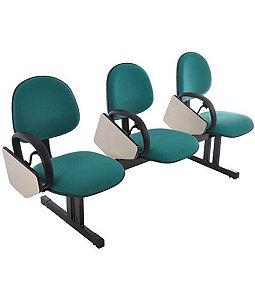 Cadeira  Universitária  Longarina Linha Office Economy Verde