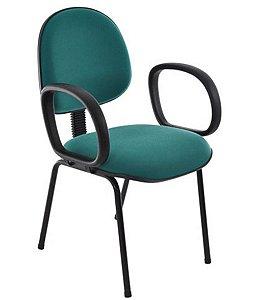 Cadeira Executiva base Fixa Palito Linha Office Economy Verde