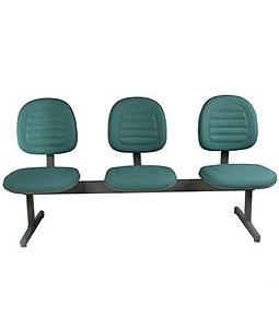 Cadeira Executiva em Longarina Linha Office Gomada Verde