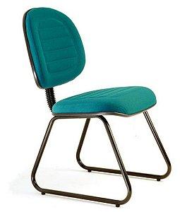 Cadeira Executiva Base Fixa Trapézio  Linha Office Gomada Cor Verde