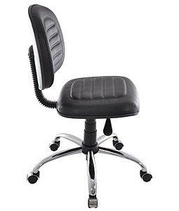 Cadeira Giratória Base Cromada Linha Office Gomada Preto