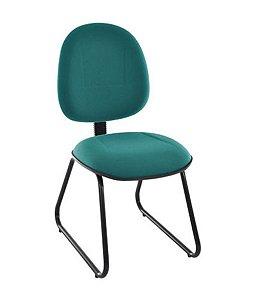 Cadeira Executiva Base Fixa Trapézio Linha Office Plus Verde