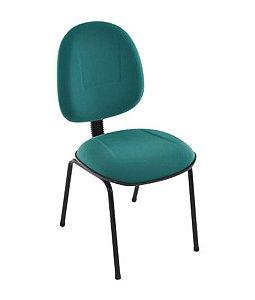 Cadeira Executiva Base Fixa Palito Linha Office Plus Verde