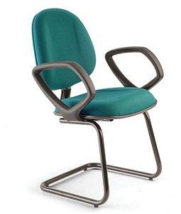 Cadeira Executiva Base Fixa em S  Linha Office Plus Verde