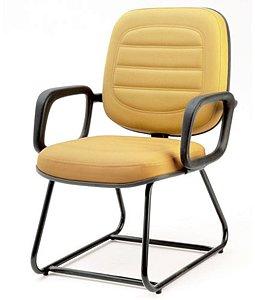 Cadeira Diretor c braço suporta até 150 kg Linha Plus Size Amarelo