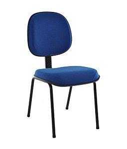 Cadeira Executiva Base Fixa Palito Linha Robust Azul