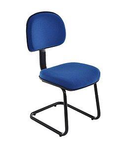 Cadeira Secretária Base Fixa em S Linha Robust Azul