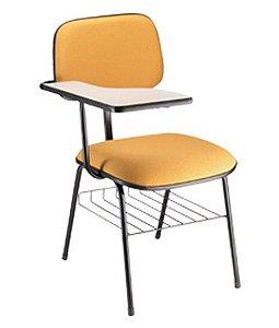 Cadeira Secretária Universitária Linha Square Amarelo