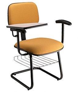 Cadeira Secretária Universitária com Braços Linha Square Amarelo