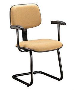 Cadeira Secretária Fixa em S com Braços Linha Square Amarelo