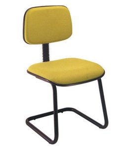 Cadeira Secretária Fixa em S Linha Square Amarelo