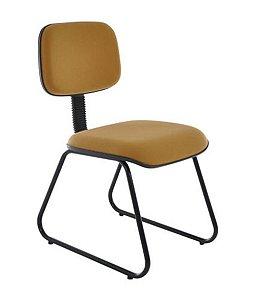 Cadeira Secretária Fixa Trapézio Linha Square Amarelo