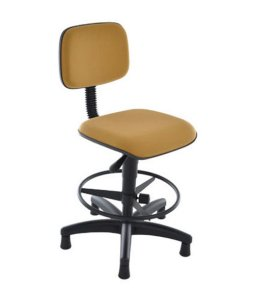 Cadeira Secretária Base Caixa Linha Square Amarelo