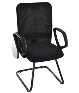 Cadeira Diretor Universitária Base Fixa  Linha Tela Mesh Preto