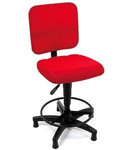 Cadeira Secretária Base Caixa Linha Tela Mesh Vermelho